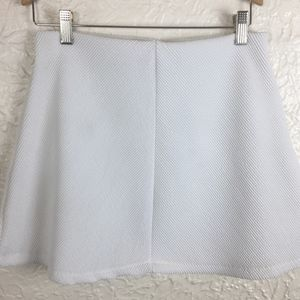 ZARA TRAFALUC White Textured Mini Skirt Medium